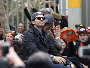 San Francisco Giants Photo Prints - 2012 San Francisco Giants World Series Champions Parade - Barry Zito - IMG8206 Print by Wingsdomain Art and Photography