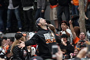 City Streets Photos - 2012 San Francisco Giants World Series Champions Parade - Marco Scutaro - DPP0008 by Wingsdomain Art and Photography