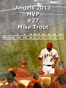 Trout Digital Art - 2013 Angels MVP by Robert Ball