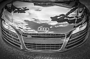 Expensive Framed Prints - 2013 Audi Quattro R8 BW Framed Print by Rich Franco