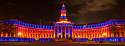 Denver Broncos Originals - 2013 Denver City and County Building by Teri Virbickis
