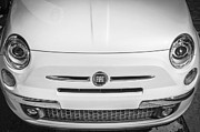 Inexpensive Metal Prints - 2013 Fiat 500 Turbo BW Metal Print by Rich Franco