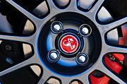 2013 Prints - 2013 Fiat Abarth Wheel Emblem Print by Jill Reger
