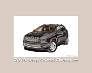 Chryslers Framed Prints - 2013 Grand Cherokee Framed Print by Jack Pumphrey