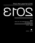 Eros Framed Prints - 2013 Is The Year For Love Framed Print by Budi Satria Kwan