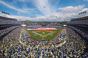 Ballfield Posters - 2013 Los Angeles Dodgers Season Opener Poster by Mark Whitt