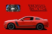 2013 Prints - 2013 Mustang Boss 302 Print by Tim McCullough