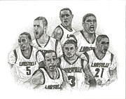 Ncaa Drawings Prints - 2013 NCAA Champions Print by Tanya Crum
