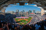 Petco Park Photo Posters - 2013 San Diego Padres Home Opener Poster by Mark Whitt