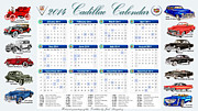 Garage Wall Art Framed Prints - 2014 Cadillac Calendar Framed Print by Jack Pumphrey