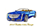 Cars Painting Framed Prints - 2014 Cadillac CIEL Concept Framed Print by Jack Pumphrey