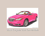 Chryslers Framed Prints - 2014 Chrysler 200 Convertible Framed Print by Jack Pumphrey