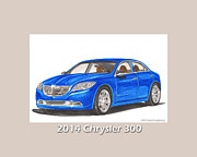 Chryslers Framed Prints - 2014 Chrysler 300 Framed Print by Jack Pumphrey