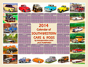 Garage Wall Art Posters - 2014 Southwest Car Art Calendar Poster by Jack Pumphrey