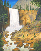 Jerome Stumphauzer Posters - 21 Bears of Yosemite Vernal Falls Poster by Jerome Stumphauzer