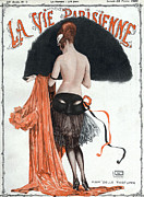 Vintage Paris Drawings Posters - La Vie Parisienne  1920 1920s France Poster by The Advertising Archives