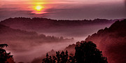 Panoramic Digital Art - Misty Mountain Sunrise by Thomas R Fletcher