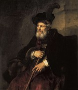 Old Man With Hat Framed Prints - Rembrandt, Harmenszoon Van Rijn, Called Framed Print by Everett