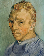 Blonde Framed Prints - Self Portrait Framed Print by Vincent Van Gogh