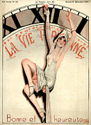 Clocks Drawings - 1920s France La Vie Parisienne Magazine by The Advertising Archives