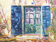 France Doors Painting Prints - 213 Rue De Provence Print by  David Lloyd Glover