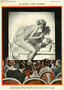 Cinema Drawings Prints - 1920s France La Vie Parisienne Magazine Print by The Advertising Archives