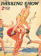 Beaches Drawings Posters - 1930s,uk,the Passing Show,magazine Cover Poster by The Advertising Archives