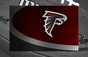Offense Framed Prints - Atlanta Falcons Framed Print by Joe Hamilton