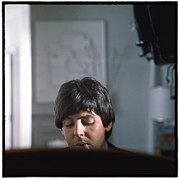 The Beatles Photo Metal Prints - Beatles HELP Paul McCartney Metal Print by Emilio Lari