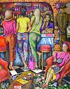 Shop Talk Print by Linda Simon