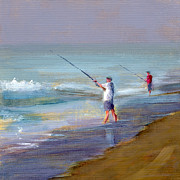 Fishing Prints - RCNpaintings.com Print by Chris N Rohrbach