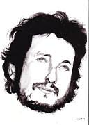 Bob Dylan Print by Laurette Maillet