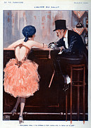 Vintage Clothing Prints - La Vie Parisienne  1920 1920s France Print by The Advertising Archives