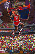 Nba Paintings - 23 by Mike Harder