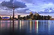 Nightlife Photo Posters - Toronto skyline Poster by Elena Elisseeva