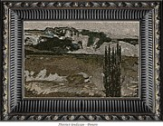 Winter Scenes Rural Scenes Digital Art Framed Prints - Abstract  landscape Framed Print by Pemaro