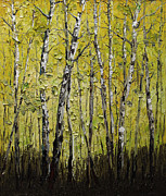 Birch Tree Paintings - Birch by Willson Lau