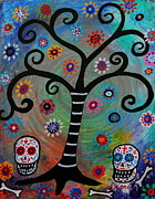 Skull Paintings - Dia De Los Muertos by Pristine Cartera Turkus