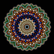 Circle Metal Prints - Kaleidoscope Stained Glass Window Series Metal Print by Amy Cicconi