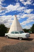 Blacktop Prints - Route 66 - Wigwam Motel Print by Frank Romeo