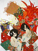 Korean Drawings Framed Prints - Ubume Framed Print by Jung ji Lee