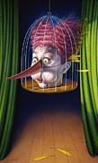 24th Annual Waxdeck's Bird Calling Contest Print by Mark Fredrickson