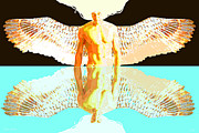 Seraphim Angel Digital Art Posters - 24x36 Reflective Angel BB Poster by Dia T