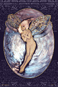 Night Angel Paintings - 24x36 The Nocturn Poster by Dia T
