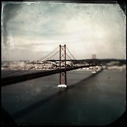 Hipstamatic Framed Prints - 25 de Abril Bridge I Framed Print by Marco Oliveira