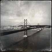 Hipstamatic Framed Prints - 25 de Abril Bridge II Framed Print by Marco Oliveira
