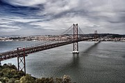 Bay Bridge Photos - 25 De Abril Bridge III by Marco Oliveira