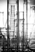 Rack Prints - Laboratory Equipment in Science Research Lab Print by Olivier Le Queinec Studio