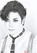 King Of Pop Drawings - Michael Jackson by Eliza Lo