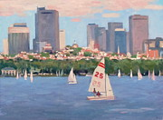 Charles River Paintings - 25 on the Charles by Dianne Panarelli Miller